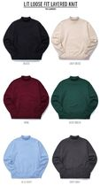 TWN(ティーダブリュエヌ)Lit Loose Fit Layered Knit6色YMKN3242
