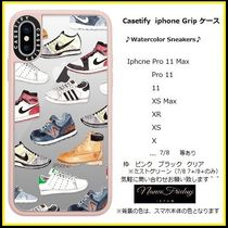 Casetify iphone Gripケース♪Watercolor Sneakers♪