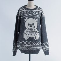 MOSCHINO   ALPACA FAIR ISLE TEDDY BEAR:XS[RESALE]