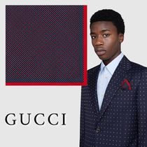 【GUCCI】即対応 GG&シャムロック シルク ポケットチーフ