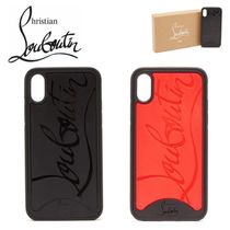 ロゴ★Loubiphone【送込Christian Louboutin】iPhone X/XS/黒赤