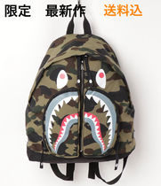 新作 A BATHING APE 1ST CAMO SHARK DAY PACK M 1F80182038