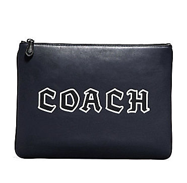 Coach クラッチバッグ COACH☆LARGE POUCH WITH COACH SCRIPT F78758