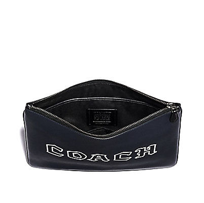 Coach クラッチバッグ COACH☆LARGE POUCH WITH COACH SCRIPT F78758(2)