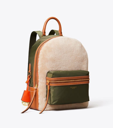 Tory Burch バックパック・リュック 最終セール 新作 Tory Burch Perry Shearling Backpack もこもこ(2)