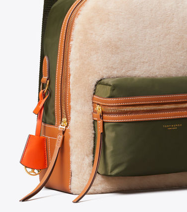 Tory Burch バックパック・リュック 最終セール 新作 Tory Burch Perry Shearling Backpack もこもこ(4)
