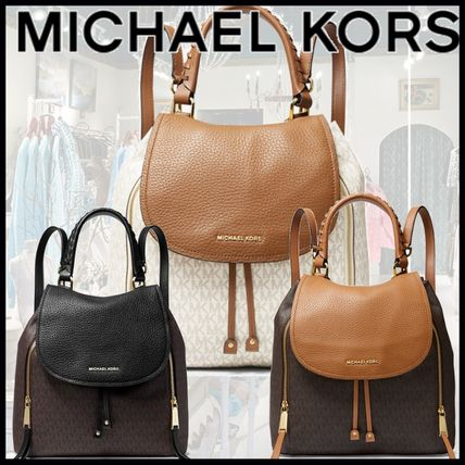 "Michael Kors バックパック・リュック ""【MICHAEL KORS】Viv Large Logo and Leather Backpack """
