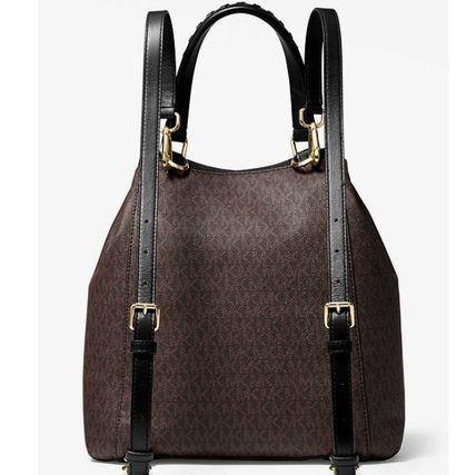 "Michael Kors バックパック・リュック ""【MICHAEL KORS】Viv Large Logo and Leather Backpack ""(4)"