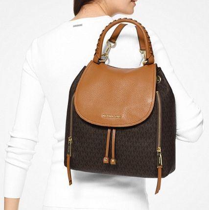 "Michael Kors バックパック・リュック ""【MICHAEL KORS】Viv Large Logo and Leather Backpack ""(12)"