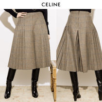 VIP価格【CELINE】Brown houndstooth patterned culottes 関税込