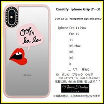 Casetify iphone Gripケース♪Oh La La Transparent Lips...♪