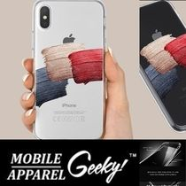 Geeky(ギーキー) iPhone・スマホケース GEEKY★ Brushstroke No.1 - クリアTouchable★iPhone ケース