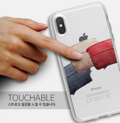 Geeky スマホケース・テックアクセサリー GEEKY★ Brushstroke No.1 - クリアTouchable★iPhone ケース(4)