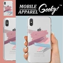 Geeky(ギーキー) iPhone・スマホケース GEEKY★Brushstroke No.6 - クリアTouchable★iPhone ケース