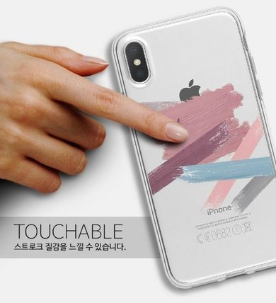 Geeky スマホケース・テックアクセサリー GEEKY★Brushstroke No.6 - クリアTouchable★iPhone ケース(5)