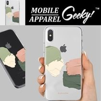 Geeky(ギーキー) iPhone・スマホケース GEEKY★Brushstroke No.11 - クリアTouchable★iPhone ケース
