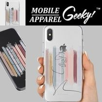 Geeky(ギーキー) iPhone・スマホケース GEEKY★Brushstroke No.8 - クリアTouchable★iPhone ケース