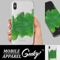 Geeky(ギーキー) iPhone・スマホケース GEEKY★Brushstroke No.13 - クリアTouchable★iPhone ケース