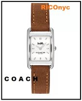 NY 発送 !  Women's Allie Brown Leather Strap Watch 19x22mm