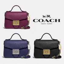 【COACH】CASSIDY TOP HANDLE CROSSBODY 上品レザー F77897