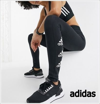 adidas ボトムスその他 ◆adidas◆leggings with side logo in black 送料込み