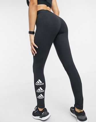 adidas ボトムスその他 ◆adidas◆leggings with side logo in black 送料込み(2)