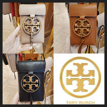 TORY BURCH 大人気! MILLER METAL-LOGO PHONE CROSSBODY
