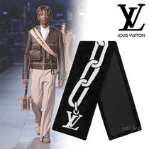 Louis Vuitton 2019W ファー チェーン・モチーフ マフラー