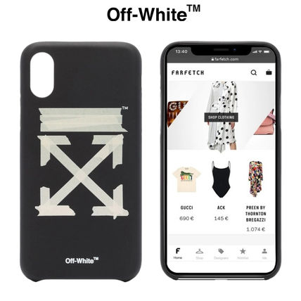 Off-White スマホケース・テックアクセサリー ★安心の国内発送★人気商品★Off-white Tape Arrows iPhone XS