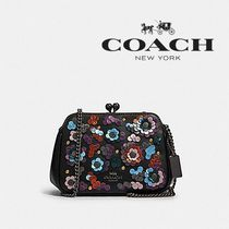 【COACH】PEARL KISSLOCK CROSSBODY がま口 花柄 F80193