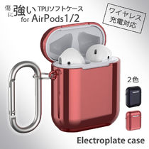 Electroplate case for AirPod / TPU保護ケース カラビナ付