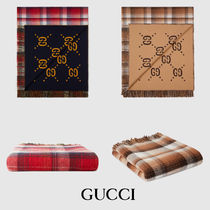 ★GUCCI★ GG and check throw ☆ブランケット☆