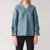 COS GATHERED-SLEEVED TOP