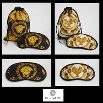 UK発!【VERSACE HOME COLLECTION】ポーチ付き シルク アイマスク