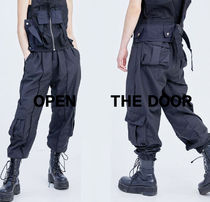 OPEN THE DOOR Multi Pocket Line Track Pants s931