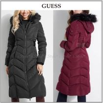GUESS☆エレガントスタイル☆PATRICIA FAUX-FUR TRIM DOWN COAT