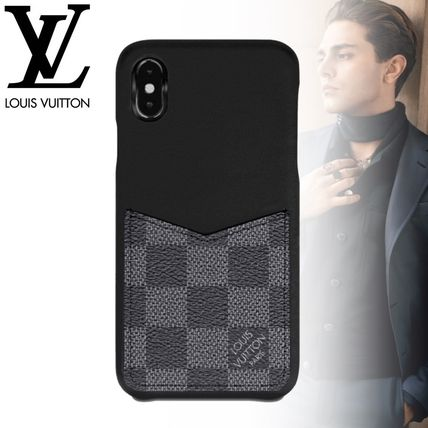 Louis Vuitton スマホケース・テックアクセサリー 国内発◆LOUIS VUITTON◆IPHONE XS ケース ダミエ・グラフィット