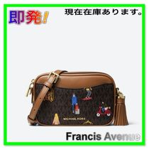 即発 Michael Kors Jet Set Convertible Belt Bag2Way旅モチーフ