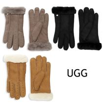 SALE【UGG】Perforated Gloves ★シープスキン手袋