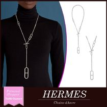 【HERMES】Ever Chaine d'Ancre ロングネックレス シルバー