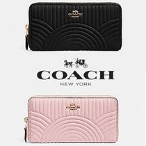 【COACH】ACCORDION ZIP WALLET 上品レザー F87888