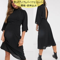 国内発送ASOS DESIGN high neck midi dress with kimono sleeve
