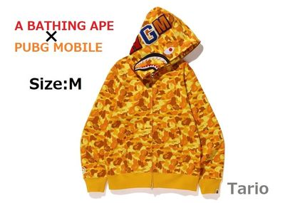 送料込!A BATHING APE x PUBG MOBILE SHARK FULL ZIP HOODIE M