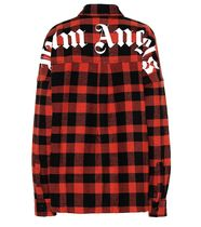 【Palm Angels】Logo checked cotton-blend ジャケット