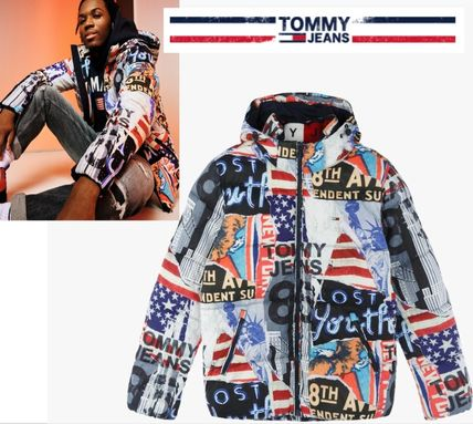 Tommy Hilfiger Jeans RECYCLED PATCHWORK PRINT HOODED JACKET