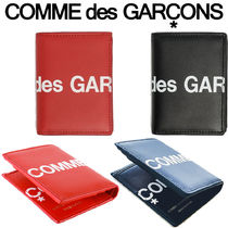 【COMME des GARCONS】ロゴ★ 2つ折り ウォレット Black Red