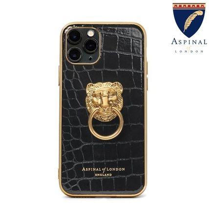 Aspinal of London スマホケース・テックアクセサリー 【Aspinal of London】Lion iPhone 11 Pro Case