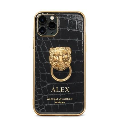 Aspinal of London スマホケース・テックアクセサリー 【Aspinal of London】Lion iPhone 11 Pro Case(5)