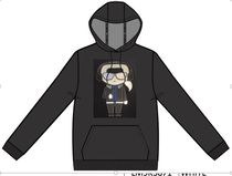 Karl Lagerfeld Paris Hoodie with Full Body Character AW19