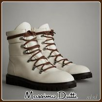 MassimoDutti♪WHITE APRES-SKI QUILTED FLAT ANKLE BOOTS